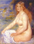 金发碧眼的bather Pierre-Auguste Renoir 大芬村油画