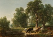 夏日下午1849年的Asher Brown Durand 风景油画